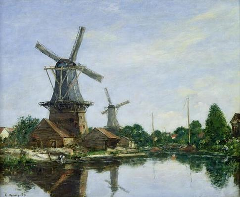 Dutch Windmills, 1884