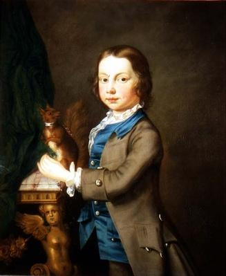 A Portrait of a Boy with a Pet Squirrel, 18th century