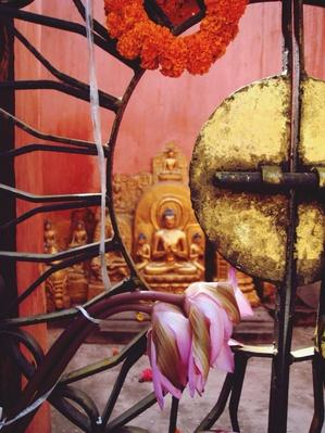 Buddha Statue Seen Through Gate At Mahabodhi Temple | World Religions: Buddhism