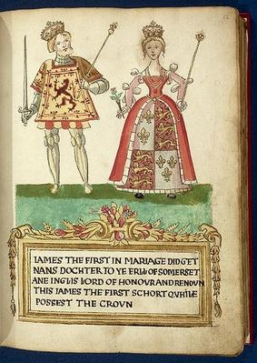 Adv.Ms.31-4-2 f.12 Marriage of James I