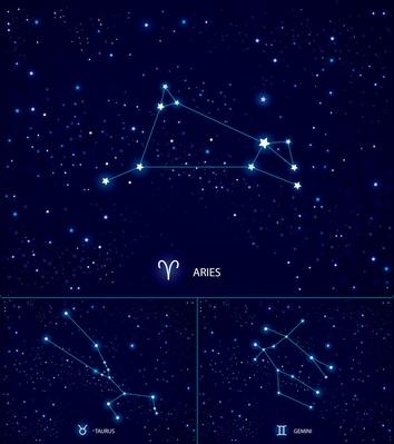 Constellations on the starry sky. Aries. Taurus. Gemini | Earth and Space