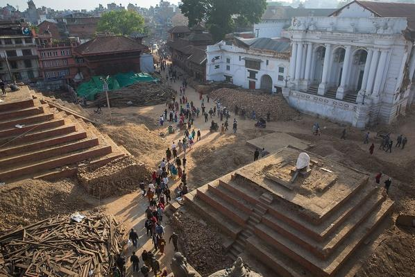 Locals and Tourists Walk Through Durbar Square | Global Oneness Project
