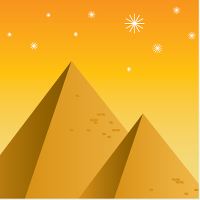 Travel Destinations - Egyptian Pyramids | Clipart