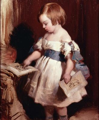 Child with a drawing