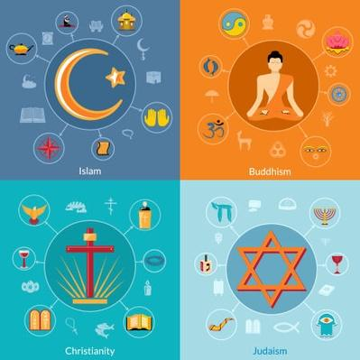 Religions flat set | World Religions: Islam