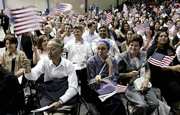 Several Hundred New Citizens Sworn In On Independence Day | U.S. Immigration | 1840's to present | U.S. History