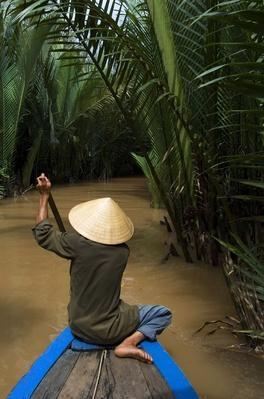 Oarsman- Ho Chi Minh City, Mekong Delta | Earth's Surface