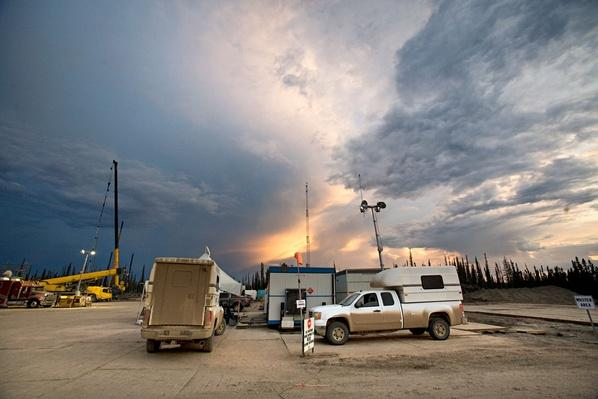 Medic Pickup Trucks on a Frac Site | Earth's Resources