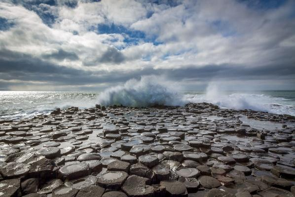 Spalsh! Waves Crashing at Giants Causeway | Earth's Surface