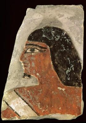 Relief of the head of a man
