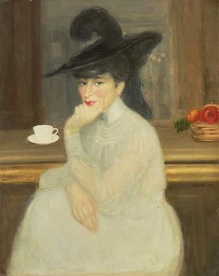Waiting at the Bar: Portrait of Sarah Bernhardt, 1907
