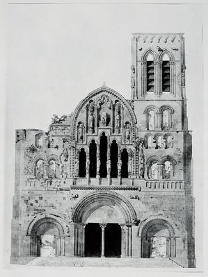 The Facade of La Madeleine de Vezelay