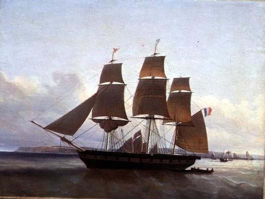 Three Masted Boat, in the Port of Le Havre, 1846