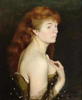 Portrait of a Young Red Haired Woman, 1889