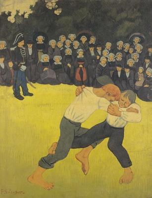 The Wrestling Bretons, c.1893