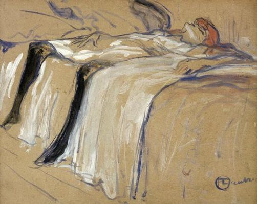 Woman lying on her Back - Lassitude, study for 'Elles', 1896