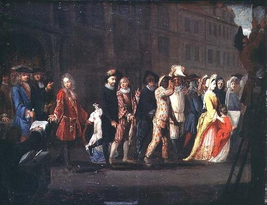 The Return of the Comediens After the Suppression of the Comedie Italienne, 1697