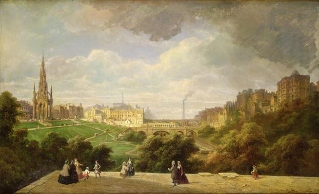 View of Edinburgh, the Walter Scott Monument