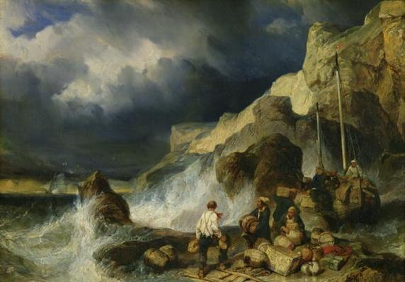 The Onslaught of the Smugglers, c.1837