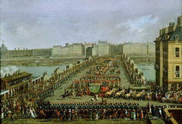 The Imperial Procession Returning to Notre Dame for the Sacred Ceremony of 2nd December 1804, Crossing the Pont-Neuf