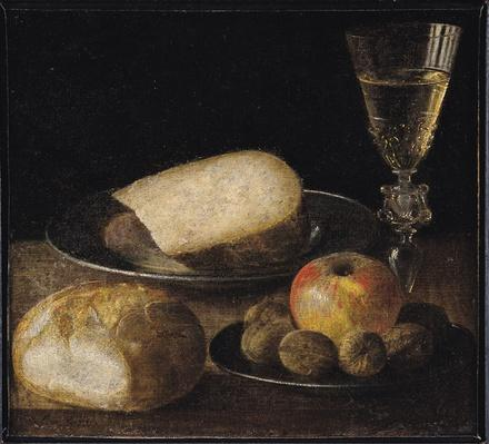 Still Life of Fruits, Cheese and Bread
