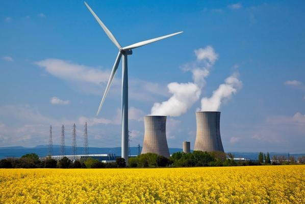 Nuclear Station and Wind Turbine | Earth's Resources