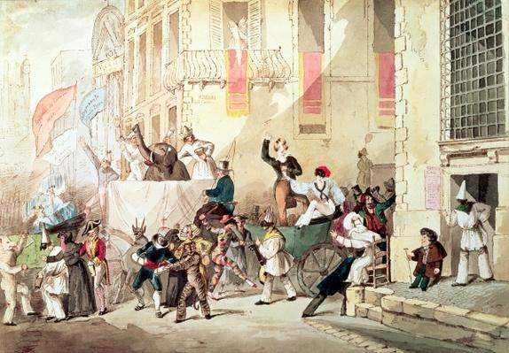 Circus Procession in Italy, 1830