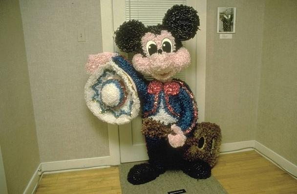 Hispanic Culture in Utah. Catalina Reyes' Mickey Mouse Pinata.