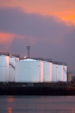 Oil or Gas Storage Tanks, Aberdeen Harbour, Scotland | Earth's Resources