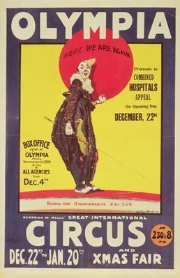 Bertram Mills circus poster, 1922