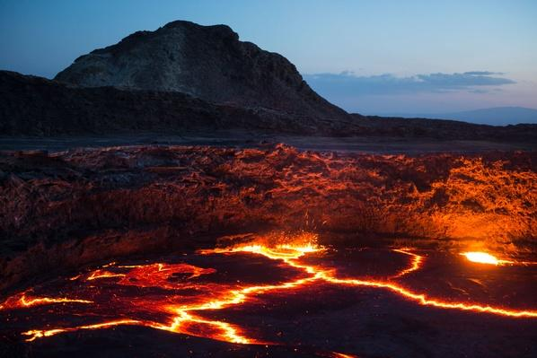 Active Lava Lake at the Summit of Erta Ale (613M) | Earth's Surface
