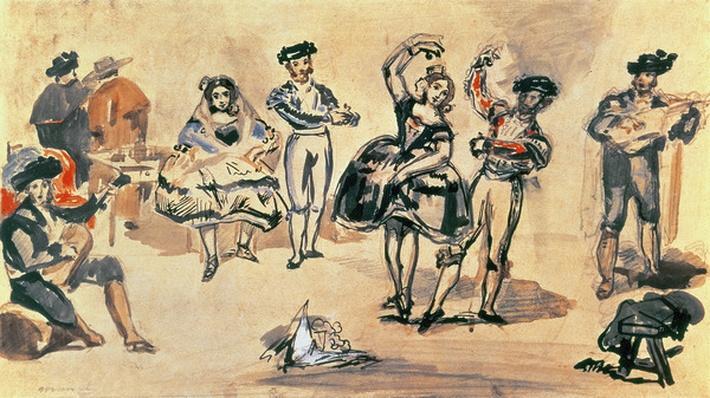 Spanish Dancers, 1862