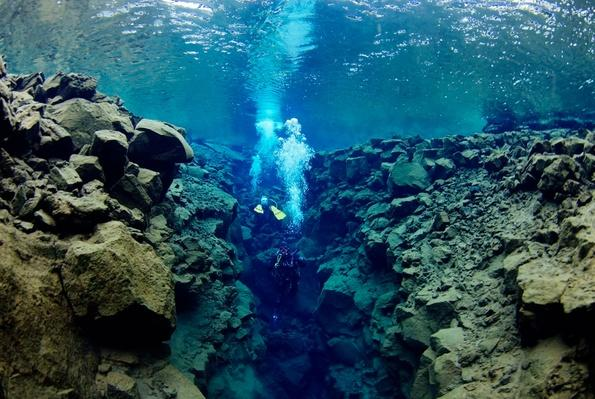 Divers in the Silfra Crack, Iceland | Earth's Surface