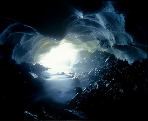 Steam Wafts in the Entrance of a Melting Glacier Cave | Earth's Surface