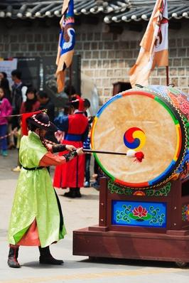 Drummer, Deoksugung Palace, Seoul, South Korea, Asia | Musical Instruments