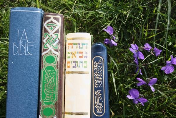 Bible and Quran on the grass | World Religions: Islam