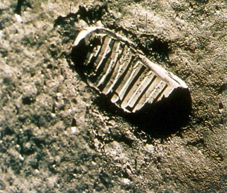 Neil Armstrong's Footprint on Moon | NASA Missions and Milestones in Space Flight
