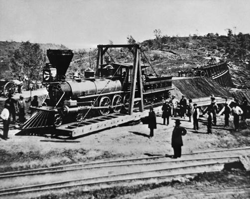 Railroad Construction, Topeka 1870 | Industrial Revolution