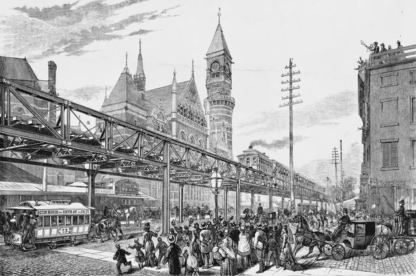 Sixth Avenue El Train, 1878 | Industrial Revolution