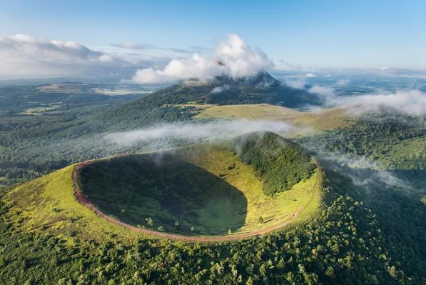 The Crater of Puy Pariou Volcano (Aerial View) | Earth's Surface
