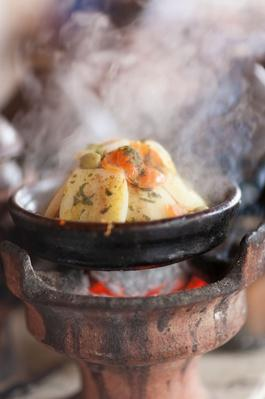 Moroccan Food in Tangines on Open Coals | Earth's Resources