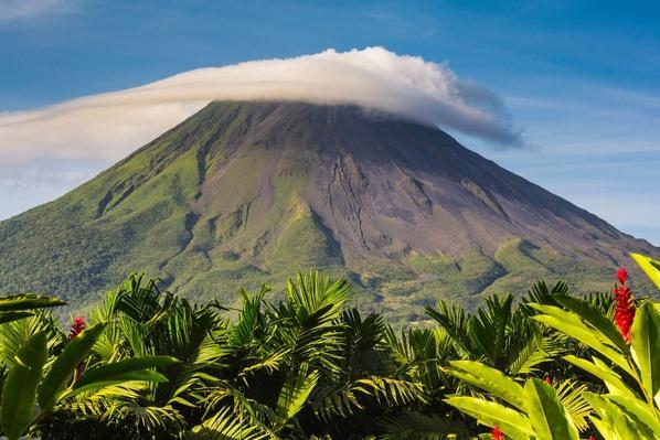 Costa Rica, Alajuela, La Fortuna, Arenal Volcano at Sunrise | Earth's Surface