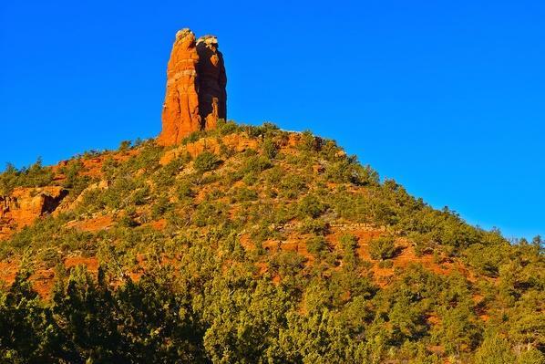 Chimney Rock Viewed From Adante Trail, Sedona, Arizona, USA | Earth's Surface