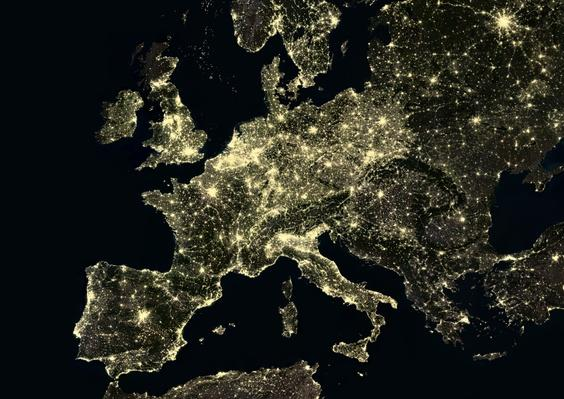 Western Europe at night in 2012 | Earth and Space