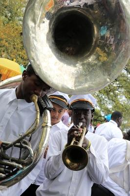 High school music band in Louis Armstrong Park | Musical Instruments