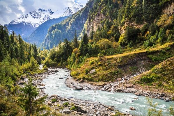 Marshyangdi River, Annapurna Circuit, Nepal | Earth's Surface