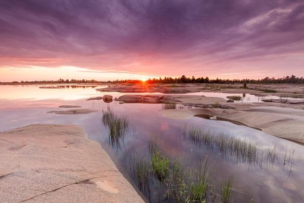 Sunset on Shores of Georgian Bay, Ontario, Canada | Earth's Surface
