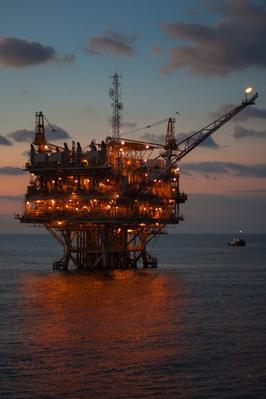 Oil Platform at Sunrise | Earth's Resources