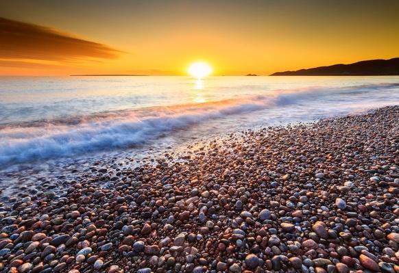 Pebble Beach at Sunset on Lake Superior at Agawa Bay, Ontario, Canada | Earth's Surface