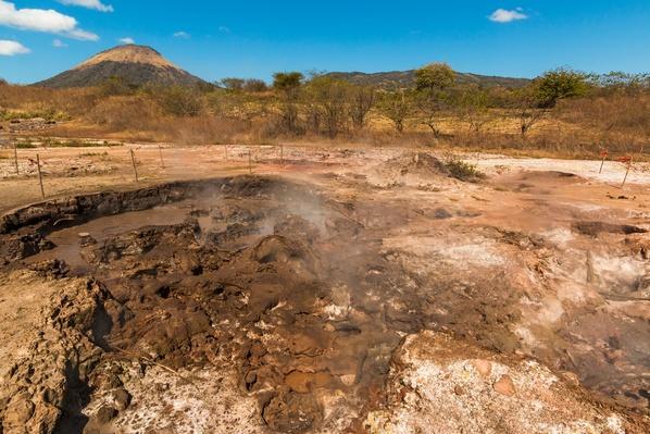 Mud Pots, Fumaroles and Dormant Volcan Santa Clara | Earth's Surface